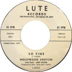 LUTE 6002 - HOLLYWOOD ARGYLES B