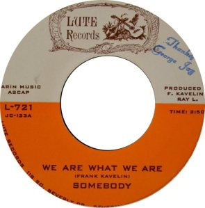 LUTE 721 - SOMEBODY A BW NOT THE SAME