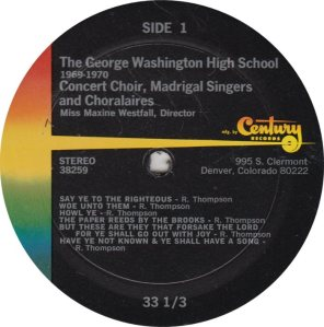 SCHOOL - GEORGE WASHINGTON - CENTURY 39259 R