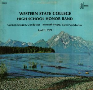 SCHOOL - WESTERN STATE - HIGH SCHOOL HONOR - AUDICOM 2040 A