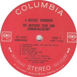 BEAT GOOF - BROTHERS FOUR - COLUMBIA 9302 A (1)