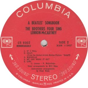 BEAT GOOF - BROTHERS FOUR - COLUMBIA 9302 A (2)