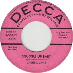 JAMIE AND JANE - DECCA ADD A