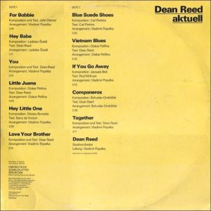 REED DEAN - LP EAST GERMANY 855533 - 1977 B