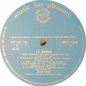 REED DEAN - LP UK - LA BAMBA B