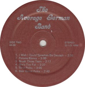 AVERAGE GERMAN BAND - A&R 8436 A (4)