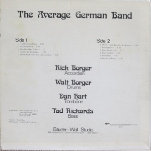 AVERAGE GERMAN BAND - A&R 8436 A (6)
