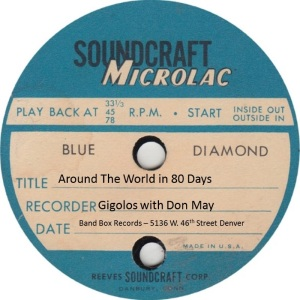 BAND BOX TP 01 A - MAY DON & GIGOLOS - AROUND THE WORLD