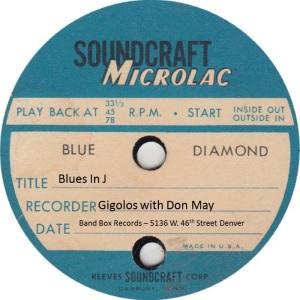 BAND BOX TP 02 B - MAY DON & GIGOLOS - BLUES IN J