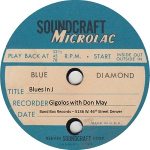 BAND BOX TP 02 B - MAY DON & GIGOLOS - BLUES IN J