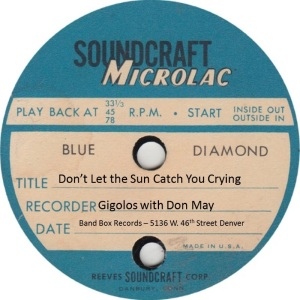 BAND BOX TP 02 B - MAY DON & GIGOLOS - DON'T LET THE SUN