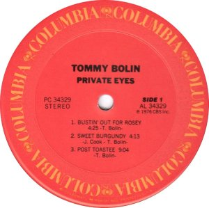 BOLIN TOMMY - PRIVATE EYES C