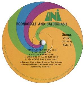 BOONDOGGLE BALDERDASH LP C