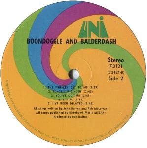 BOONDOGGLE BALDERDASH LP D