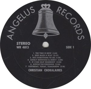 CHRISTIAN CHORALAIRS - ANGELUS 4813 A (1)