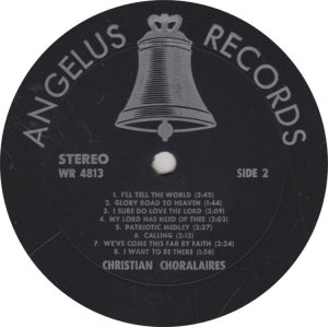 CHRISTIAN CHORALAIRS - ANGELUS 4813 A (2)