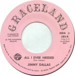 DALLAS JIMMY - GRACELAND 285 B