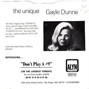 DUNNE GAYLE - ALYN 67201 B