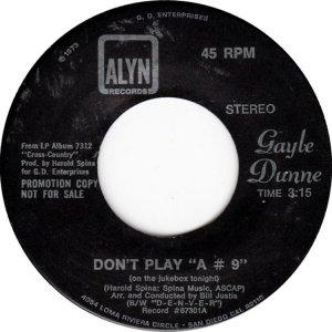 DUNNE GAYLE - ALYN 67201 D