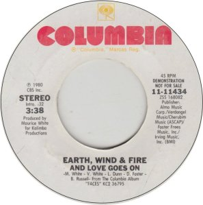 EARTH WIND FIRE - COL 11424 A