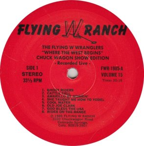 FLYING W WRANGLERS FWR 1985