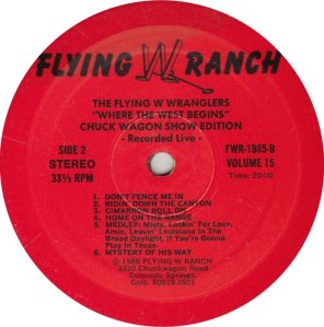 FLYING W WRANGLERS FWR 1985_0001