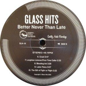 GLASS HITS LP 2 F