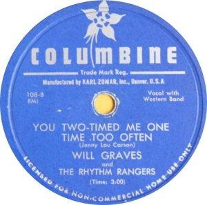 GRAVES WILL - COLUMBINE 108 B