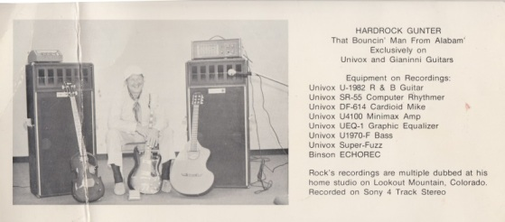 HARDROCK GUNTER - 871 PROMO CARD