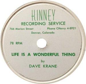 KRANE DAVE - KINNEY 78