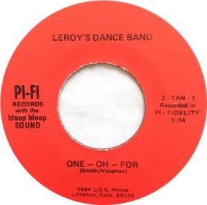 LEROY DANCE BAND BW INTERNATIONAL
