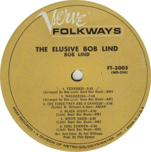 LIND BOB - VERVE FOLKWAYS 3005 MONO