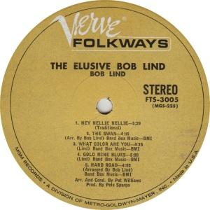 LIND BOB - VERVE FOLKWAYS LP B