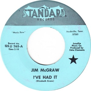 MCGRAW JIM - GOLD STANDARD 265