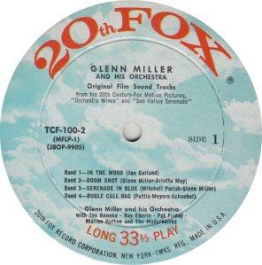 MILLER GLENN - 20TH FOX 100-2