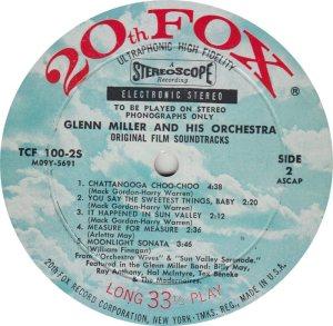 MILLER GLENN - 20TH FOX 100-25 _0001
