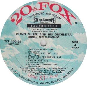 MILLER GLENN - 20TH FOX 100-25 _0003
