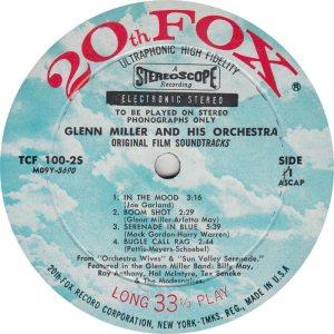 MILLER GLENN - 20TH FOX 100-25