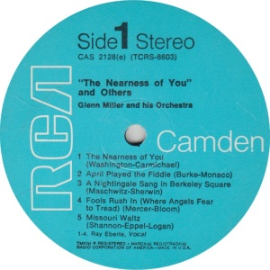 MILLER GLENN - RCA CAMDEN 2128