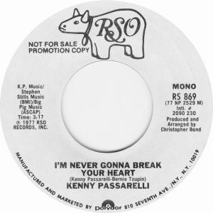 PASSARELLI KENNY - RSO 869 1977 A