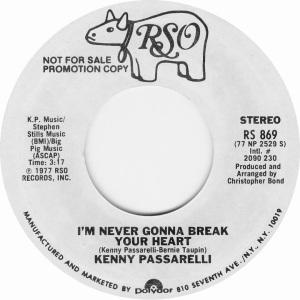 PASSARELLI KENNY - RSO 869 1977 B