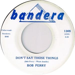 PERRY BOB - BANDERA 1305 A