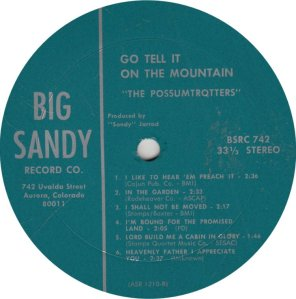 POSSUMTROTTERS - BIG SANDY LP