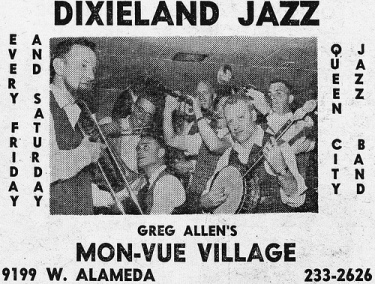 """The Queen City Jazz Band (Image from """"The Denver Eye"""")"""