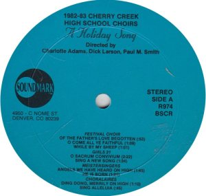SCHOOL - CHERRY CREEK - SOUND MARK 974 R