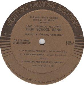 SCHOOL - COLO ALL STATE 21052