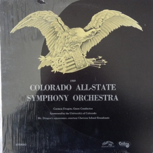 SCHOOL - COLORADO ALL STATE CHOIR - 1969 A