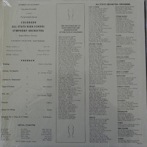 SCHOOL - COLORADO ALL STATE CHOIR - 1969 B