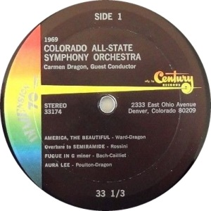 SCHOOL - COLORADO ALL STATE CHOIR - 1969 C