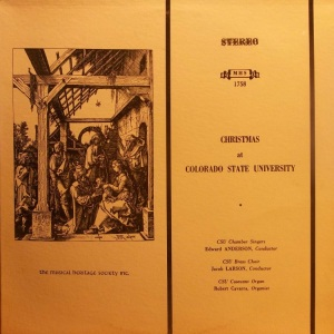 SCHOOL - COLORADO STATE UNIVERSTIY - MHS 1758 A